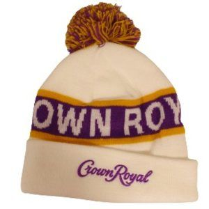 Crown Royal Knit Pom Pom Hat/Toque- New in Package